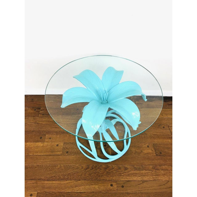 1970s Vintage Arthur Court Style Lily Side Table For Sale - Image 5 of 9