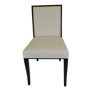 Sergio Cream Linen Blend Dining Chair For Sale