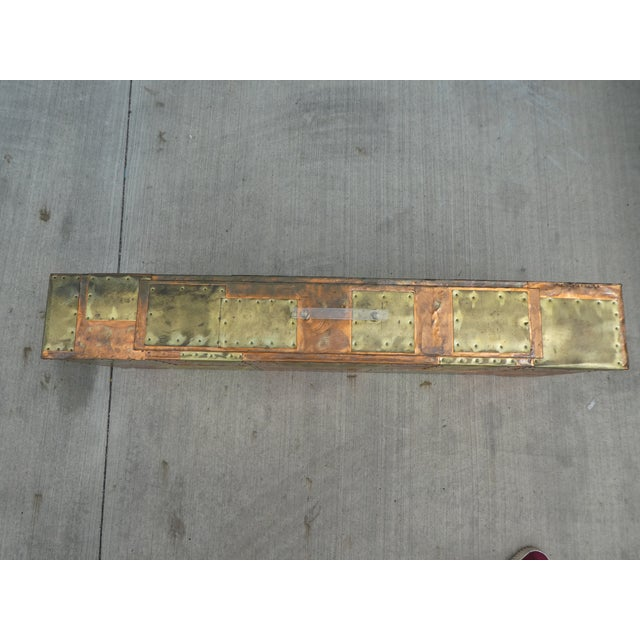 Gold 1970's Brutalist Patchwork Wall Console Manner of Paul Evans For Sale - Image 8 of 12