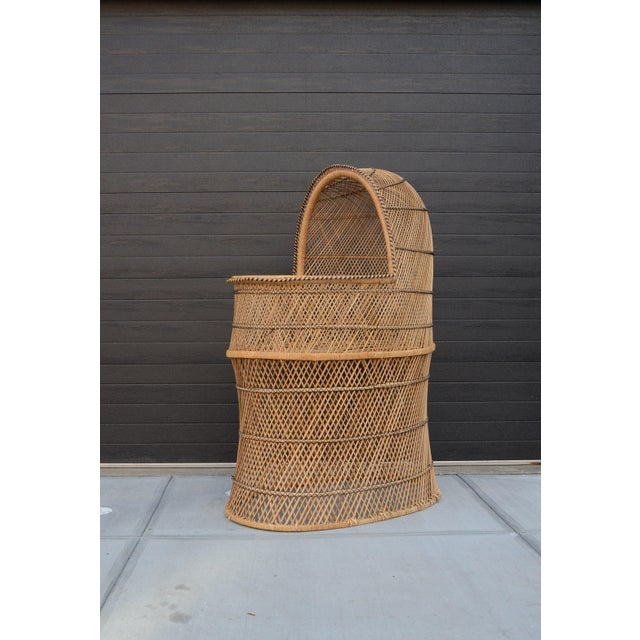 Vintage Woven Wicker Freestanding Bassinet For Sale - Image 9 of 9