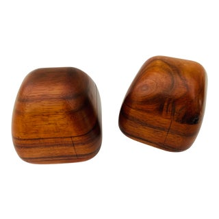 Claro Walnut Box Pair by Dean Santner - California Modernist Designer For Sale