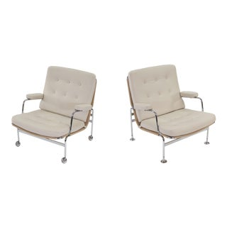 1970s Vintage Bruno Mathsson Karin Easy Chairs- A Pair For Sale