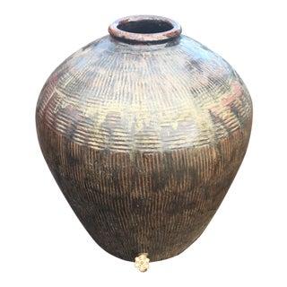 Repurposed Soy Sauce Ceramic Rain Water Barrel For Sale