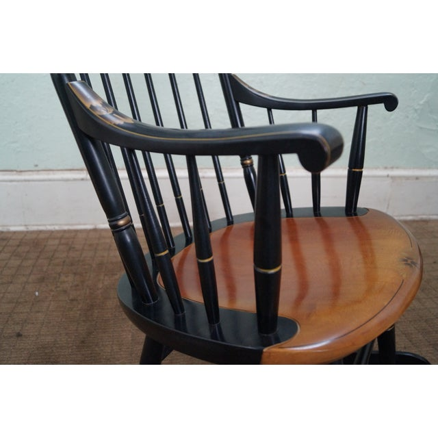 Hitchcock Black Painted Stenciled Rocking Chair - Image 9 of 10