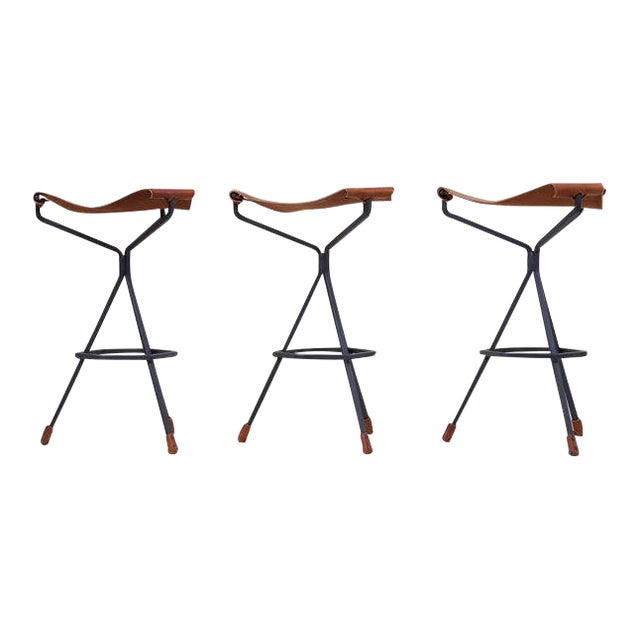Set of Three Bar Stools by Dan Wenger, Us For Sale