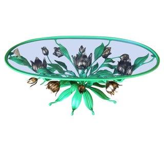 Italian Tole Illuminated Gilt Coffee Table For Sale