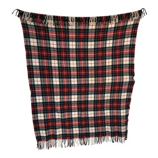 Vintage Plaid Throw For Sale