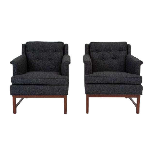 Pair of Petite Lounge Chairs by Edward Wormley for Dunbar For Sale - Image 13 of 13