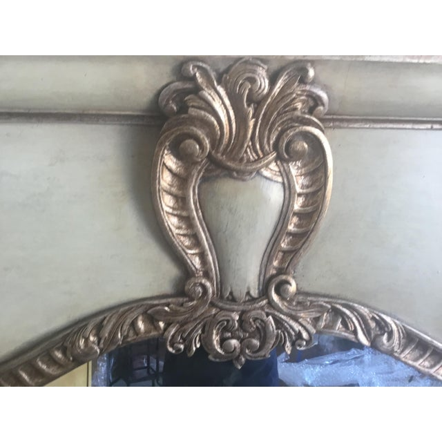 Contemporary Antiqued Silver Fireplace Mirror For Sale - Image 4 of 9