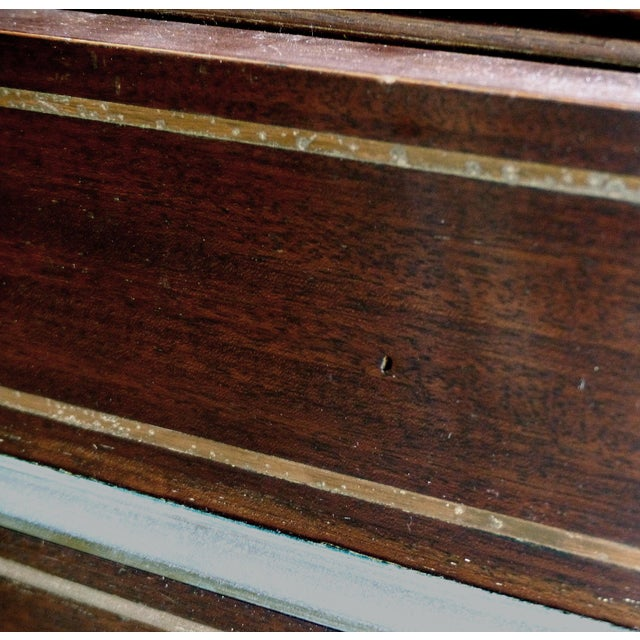 19th Century French Paul Sormani Cylinder Writing Desk in Walnut For Sale In Miami - Image 6 of 13