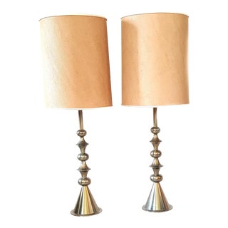 Tommi Parzinger for Stiffel Brass Table Lamps - A Pair