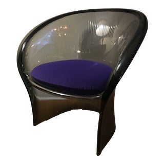 Modern Pierre Paulin Polycarbonate Flower Design Armchair For Sale