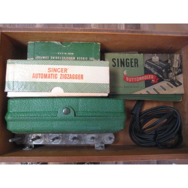 Vintage Singer Sewing Table - Image 4 of 11
