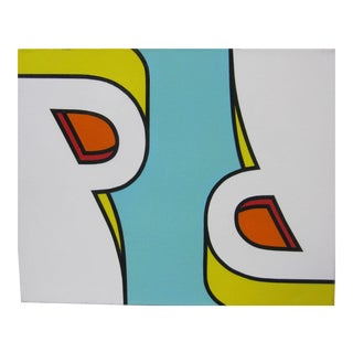 Contemporary Roy Lichenstein Style r.t. Pece Pop Art Precisionist Painting For Sale