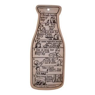 Vintage Dairy Industry Promotional Chlidren's Milk Drinking Card