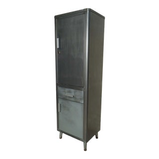 Tall Vintage Industrial Cabinet For Sale