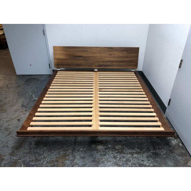 Contemporary Herman Miller Nelson Walnut Thin Edge King Bed For Sale - Image 3 of 11