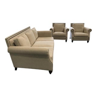 Safavieh Brae Bernhardt Sofa and Armchairs - 3 Pc. Set For Sale