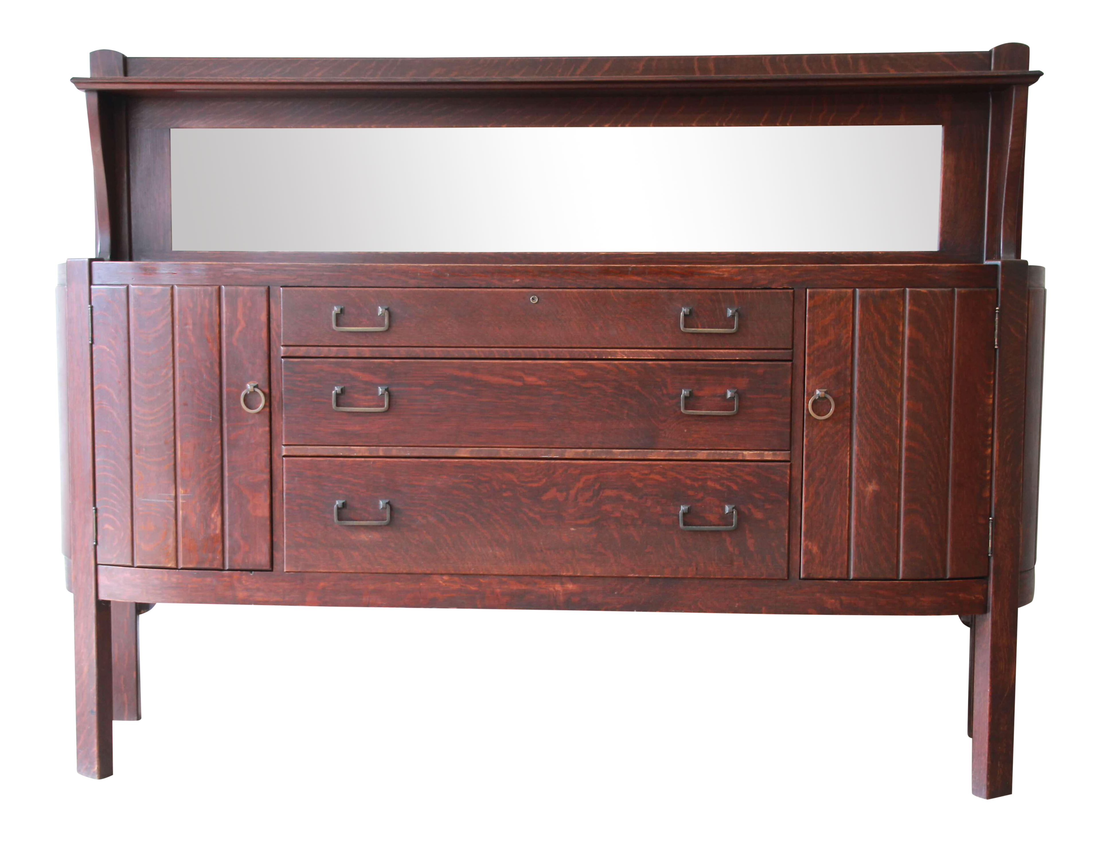 Ordinaire Antique Mission Oak Sideboard By Grand Rapids Chair Co., Circa 1910 For Sale