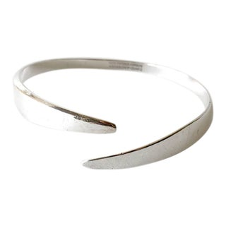 David Andersen Sterling Silver Norwegian Modernist Arm Bracelet For Sale