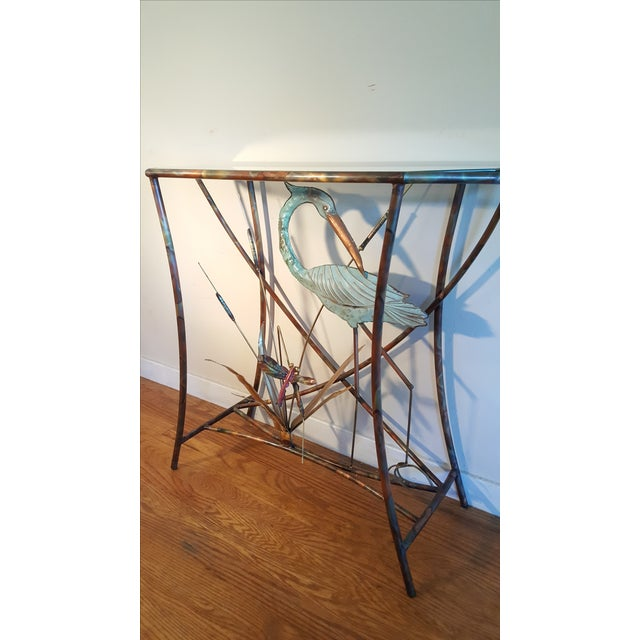Mid-Century Modern Jere Style Brass Console - Image 4 of 8