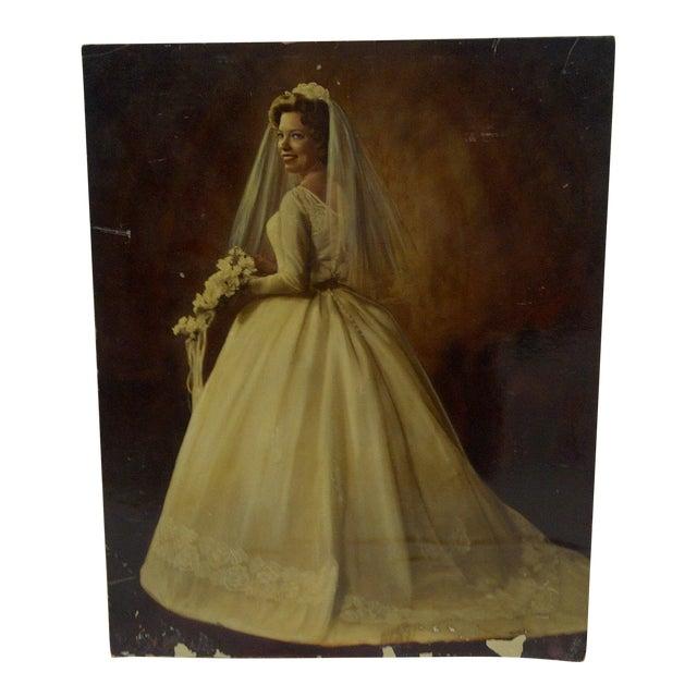 "Vintage Color Photograph - ""Beautiful Wedding Dress"" - Circa 1960 For Sale"
