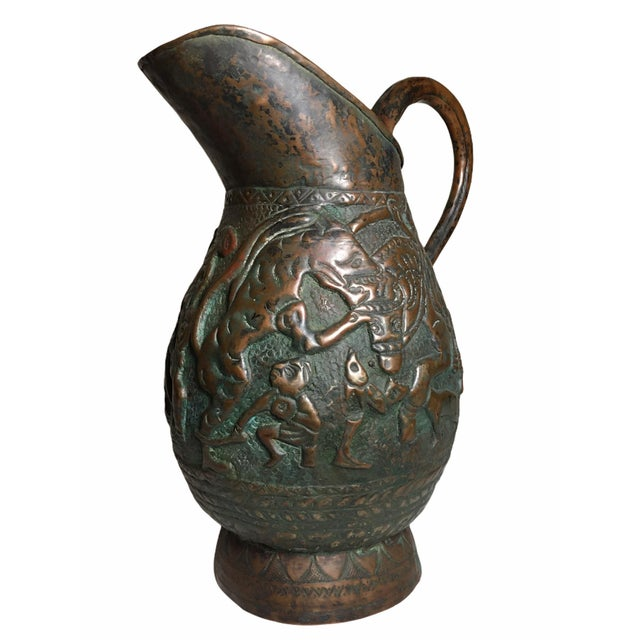 19th Century Persian Qajar Dynasty Copper Pitcher/Jug For Sale - Image 13 of 13