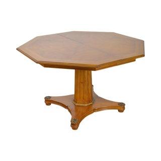 Henredon Regency Style Vintage Walnut Octagon Expandable Dining Table