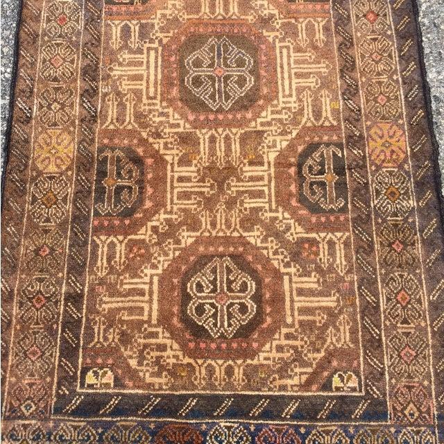"Vintage Baluchi Persian Rug - 2'10"" x 4'1"" - Image 4 of 11"
