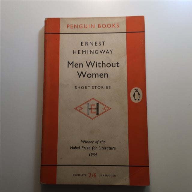 An Ernest Hemingway book with minor light soil and minor wear on covers. Pages clean and tight. First Penguin edition, 1955.