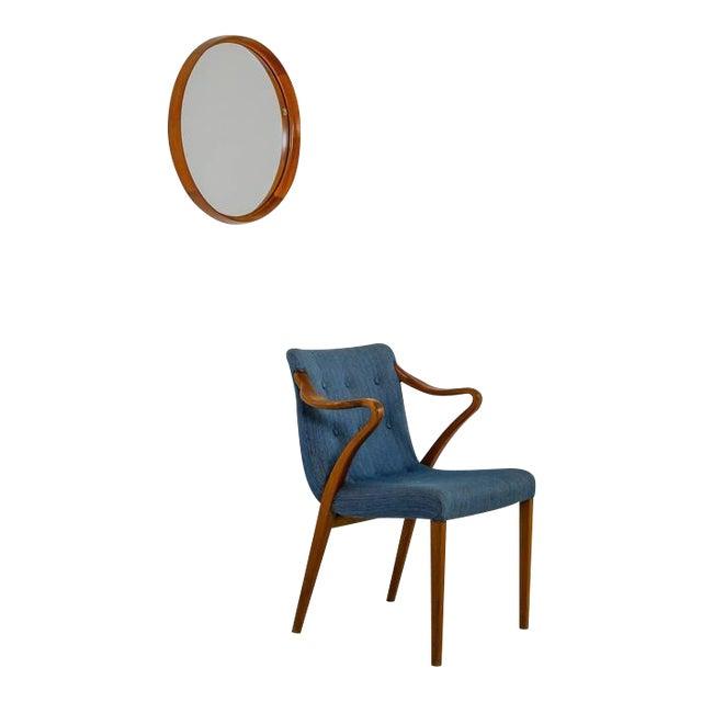 Uno and Östen Kristiansson teak mirror for Luxus, Sweden, 1960s - Image 1 of 4