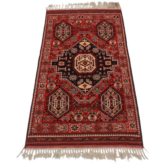 Rugsindallas Vintage Persian Design Wool Area Rug: RugsinDallas Vintage Afghan Hand Knotted Wool Area Rug