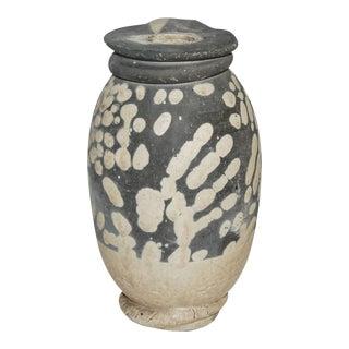 1980s Paul Soldner Raku-Fired Ceramic Vase For Sale