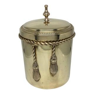 Vintage Brass Jar With Lid and Tassel Detail