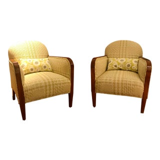 Art Deco Club Chairs - A Pair For Sale