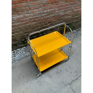1970s Italian Canary Yellow Folding Trolley Cart Preview