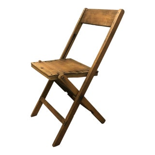 1940s Snyder Wooden Folding Chairs For Sale