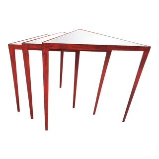 Arteriors Mirrored Nesting Tables-Set of 3 For Sale
