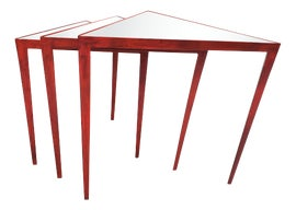 Image of Red Nesting Tables