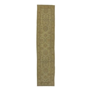 Modern Turkish Oushak Runner with Transitional Style and Warm Neutral Colors