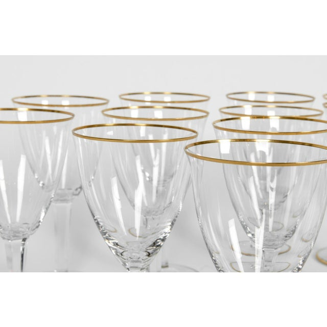 Gold Vintage Baccarat Wine / Water Glassware - Service for 18 People For Sale - Image 8 of 13