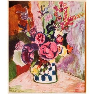 "1940s Henri Matisse, Original Period Parisian Lithograph ""Vase of Flowers"" Preview"