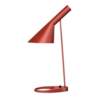 Arne Jacobsen 'Aj Mini' Table Lamp in Rusty Red for Louis Poulsen For Sale