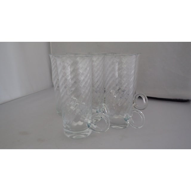Vintage Irish Fine Glass Coffee Mugs S/7 For Sale - Image 4 of 7