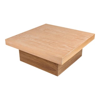 Cerused Coffee Table by Samuel Greg For Sale