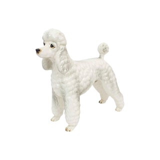 Hand-Painted Porcelain Poodle For Sale