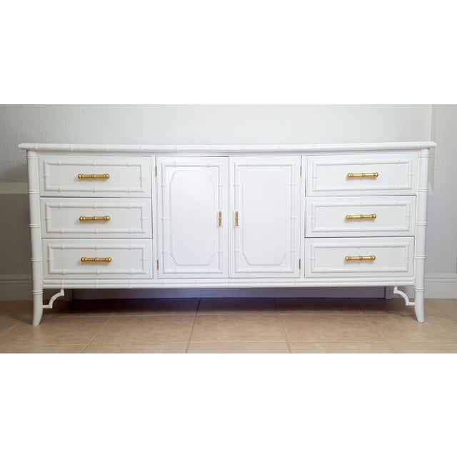 Dixie Aloha Faux Bamboo 9 Drawer Dresser For Sale - Image 10 of 10