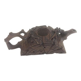 19th Century Antique Yixing Teapot, Wood Form For Sale