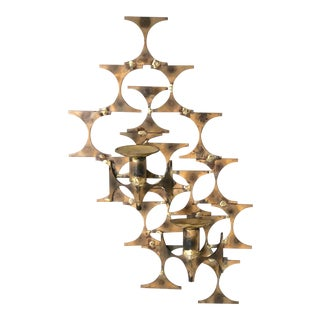 Brutalist Style Wall Sconce Sculpture by Mark Weinstein For Sale