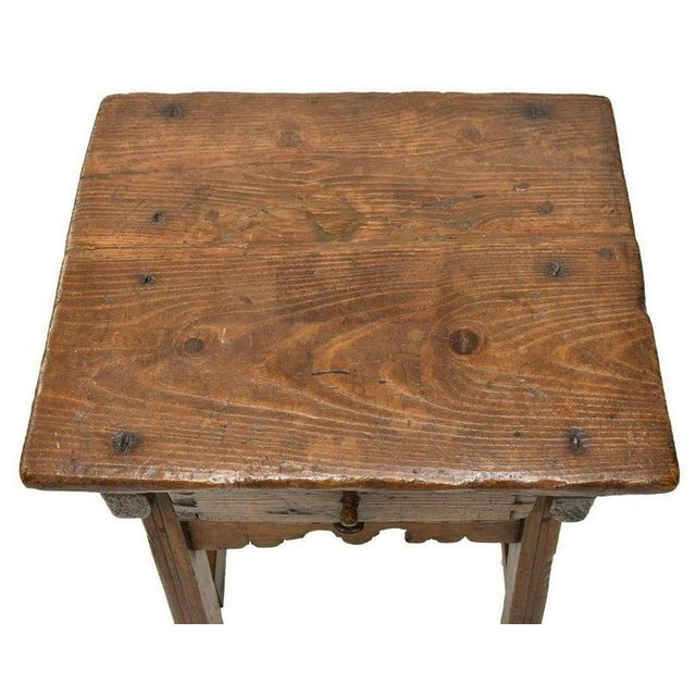 Early 18th Century Spanish Colonial Rustic Small Table For Sale - Image 4 of 12